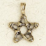 Bronze Twig Pentagram Necklace