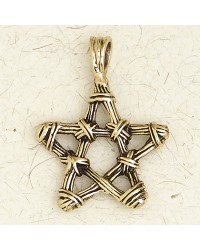 Bronze Twig Pentagram Necklace All Wicca Magickal Supplies Wiccan Supplies, Wicca Books, Pagan Jewelry, Altar Statues