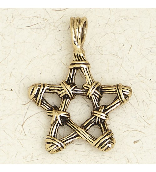 Bronze Twig Pentagram Necklace at All Wicca Store Magickal Supplies, Wiccan Supplies, Wicca Books, Pagan Jewelry, Altar Statues