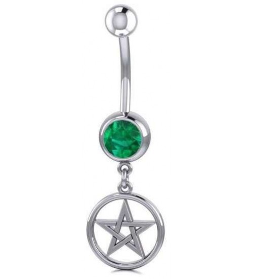 Pentacle Body Jewelry with Gemstone at All Wicca Store Magickal Supplies, Wiccan Supplies, Wicca Books, Pagan Jewelry, Altar Statues