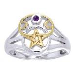 Pentacle Gemstone Ring
