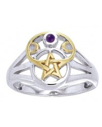 Pentacle Gemstone Ring All Wicca Store Magickal Supplies Wiccan Supplies, Wicca Books, Pagan Jewelry, Altar Statues