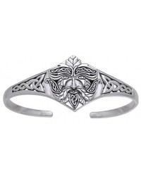 Green Man Sterling Silver Cuff Bracelet All Wicca Store Magickal Supplies Wiccan Supplies, Wicca Books, Pagan Jewelry, Altar Statues