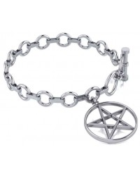 Pentacle Sterling Silver Toggle Bracelet All Wicca Store Magickal Supplies Wiccan Supplies, Wicca Books, Pagan Jewelry, Altar Statues