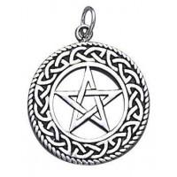 Celtic Border Pentacle Sterling Silver Pendant