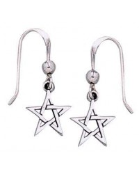 Pentacle Dangle Earrings in Sterling Silver All Wicca Store Magickal Supplies Wiccan Supplies, Wicca Books, Pagan Jewelry, Altar Statues