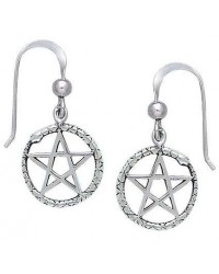 Ouroborus Snake of Rebirth Pentacle Earrings All Wicca Store Magickal Supplies Wiccan Supplies, Wicca Books, Pagan Jewelry, Altar Statues