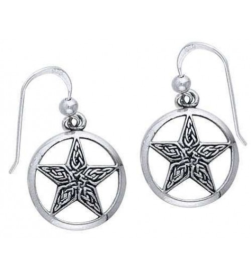 Celtic Knot Pentacle Earrings at All Wicca Store Magickal Supplies, Wiccan Supplies, Wicca Books, Pagan Jewelry, Altar Statues