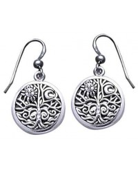 Tree of Life Sterling Silver Earrings All Wicca Store Magickal Supplies Wiccan Supplies, Wicca Books, Pagan Jewelry, Altar Statues