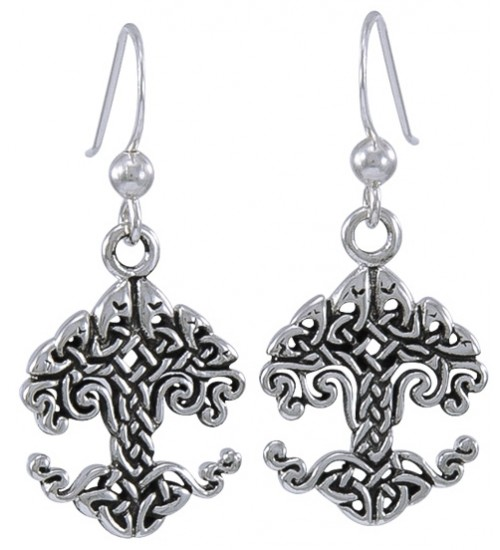 Celtic Tree of Life Sterling Silver Earrings at All Wicca Supply Shop, Wiccan Supplies, All Wicca Books, Pagan Jewelry, Wiccan Altar Statues