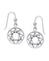 Enneagram Sterling Silver Earrings All Wicca Store Magickal Supplies Wiccan Supplies, Wicca Books, Pagan Jewelry, Altar Statues