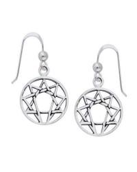Enneagram Sterling Silver Earrings