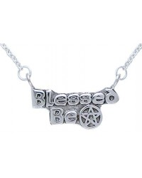 Blessed Be Pentacle Sterling Silver Necklace All Wicca Store Magickal Supplies Wiccan Supplies, Wicca Books, Pagan Jewelry, Altar Statues