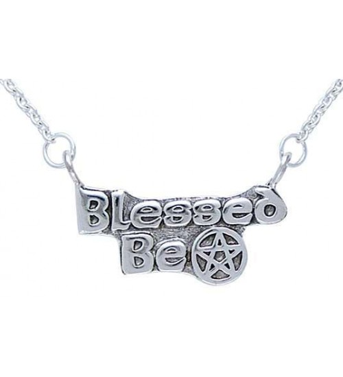 Blessed Be Pentacle Sterling Silver Necklace at All Wicca Store Magickal Supplies, Wiccan Supplies, Wicca Books, Pagan Jewelry, Altar Statues