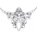 Danu Goddess Sterling Silver Necklace