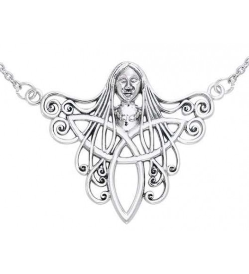 Danu Goddess Sterling Silver Necklace at All Wicca Store Magickal Supplies, Wiccan Supplies, Wicca Books, Pagan Jewelry, Altar Statues