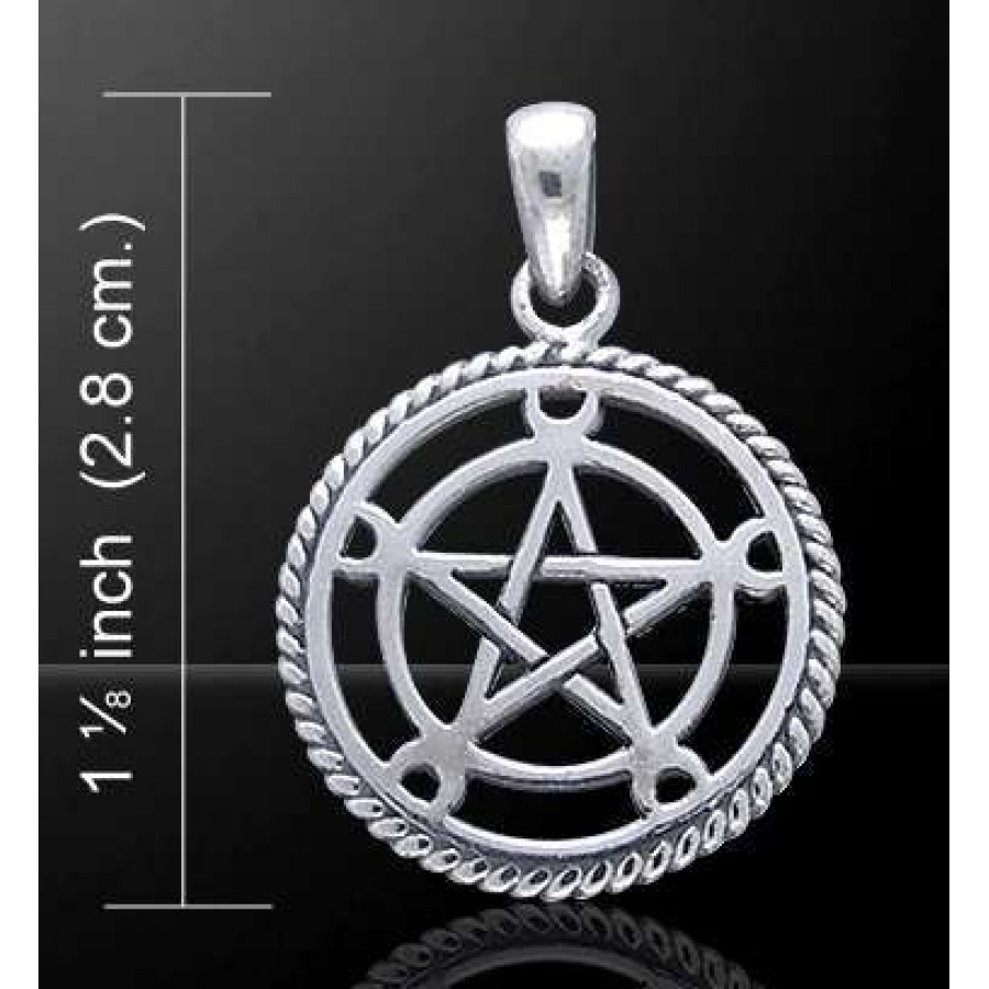Moon pentacle sterling silver pentagram pendant wicca witch moon pentacle sterling silver pentagram pendant at all wicca supply shop wiccan supplies all aloadofball Gallery