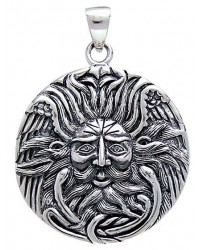 Belenos Sun God Disk Pendant in Sterling Silver All Wicca Store Magickal Supplies Wiccan Supplies, Wicca Books, Pagan Jewelry, Altar Statues