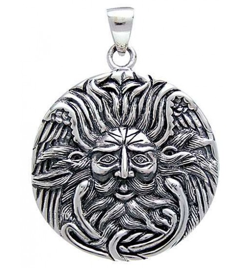Belenos Sun God Disk Pendant in Sterling Silver at All Wicca Store Magickal Supplies, Wiccan Supplies, Wicca Books, Pagan Jewelry, Altar Statues