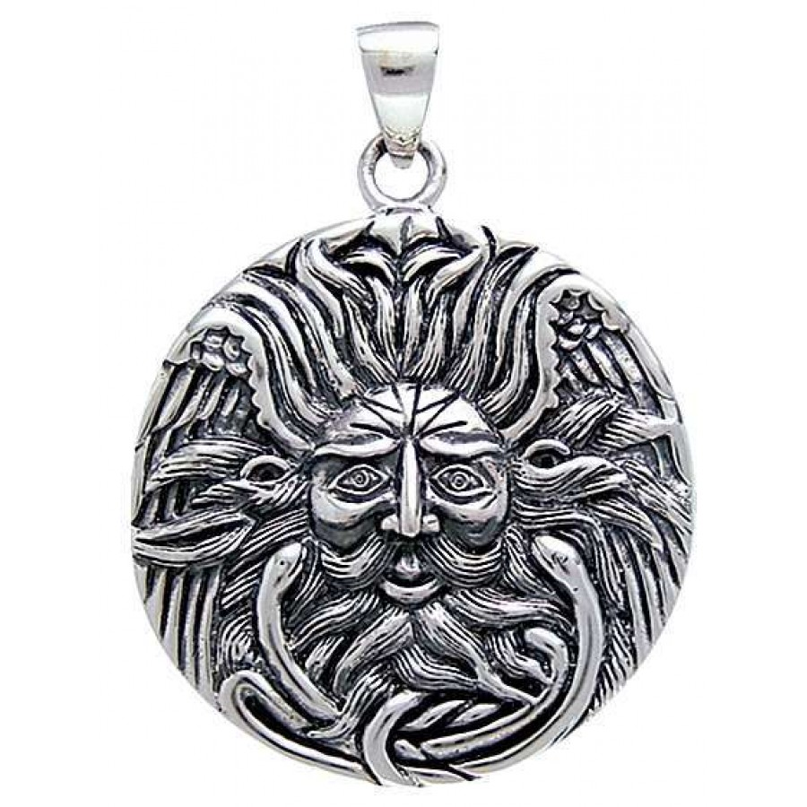Sterling Silver Charge of God and Goddess Wiccan Pagan Pendant Jewelry Amulet