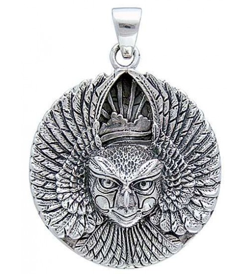 Ariel Bird Goddess Disk Pendant in Sterling Silver at All Wicca Store Magickal Supplies, Wiccan Supplies, Wicca Books, Pagan Jewelry, Altar Statues