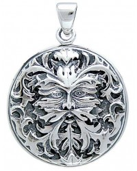 Green Man Sterling Silver Pendant All Wicca Store Magickal Supplies Wiccan Supplies, Wicca Books, Pagan Jewelry, Altar Statues