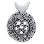 Celtic Blessed Be Sterling Silver Pentacle Pendant