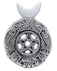 Celtic Blessed Be Sterling Silver Pentacle Pendant All Wicca Magickal Supplies Wiccan Supplies, Wicca Books, Pagan Jewelry, Altar Statues