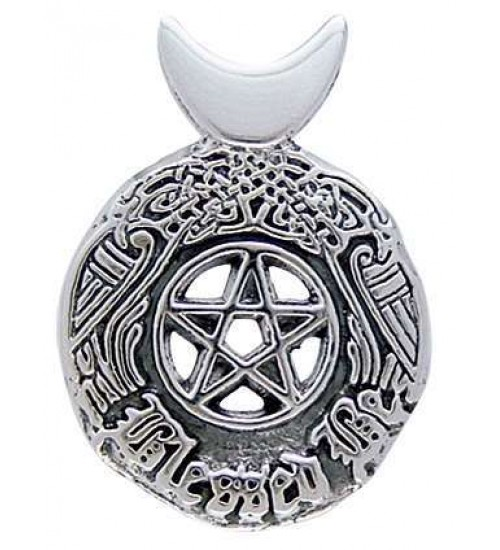 Celtic Blessed Be Sterling Silver Pentacle Pendant at All Wicca Store Magickal Supplies, Wiccan Supplies, Wicca Books, Pagan Jewelry, Altar Statues