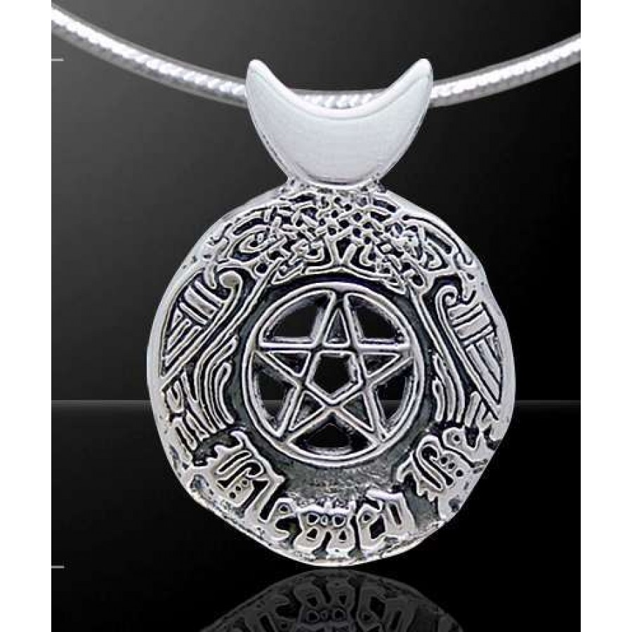 Celtic blessed be sterling silver pentacle pendant wicca witch celtic blessed be sterling silver pentacle pendant at all wicca supply shop wiccan supplies aloadofball Images