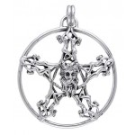 Horned God Pentacle Pentagram Pendant