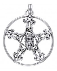 Horned God Pentacle Pentagram Pendant All Wicca Store Magickal Supplies Wiccan Supplies, Wicca Books, Pagan Jewelry, Altar Statues
