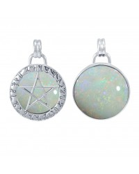 Theban Hidden Pentacle Opal Pentagram Pendant