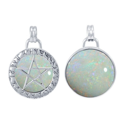 Theban Hidden Pentacle Opal Pentagram Pendant at All Wicca Store Magickal Supplies, Wiccan Supplies, Wicca Books, Pagan Jewelry, Altar Statues