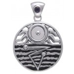 Four Elements Harmony Silver Pendant with Gemstone