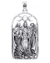 Triple Goddess Sterling Silver Pendant All Wicca Magickal Supplies Wiccan Supplies, Wicca Books, Pagan Jewelry, Altar Statues