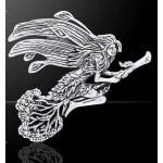 Besom Fairy Silver Pendant by Mickie Mueller