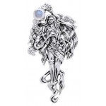 Moon Goddess Sterling Pendant