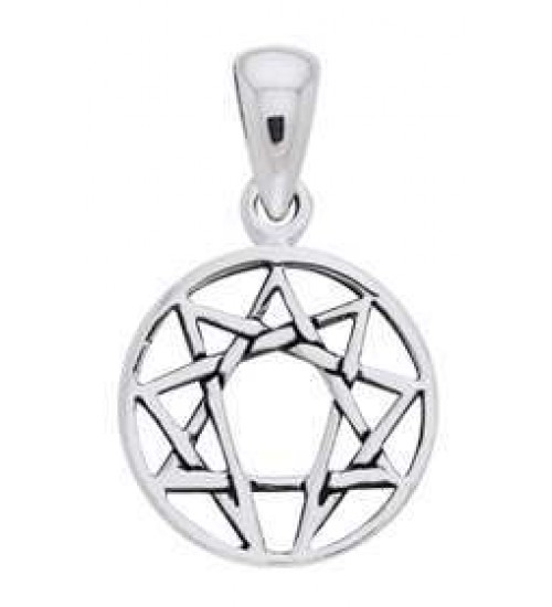 Enneagram Pendant in Sterling Silver at All Wicca Store Magickal Supplies, Wiccan Supplies, Wicca Books, Pagan Jewelry, Altar Statues