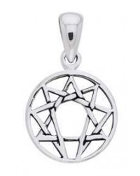Enneagram Mini Pendant in Sterling Silver All Wicca Store Magickal Supplies Wiccan Supplies, Wicca Books, Pagan Jewelry, Altar Statues