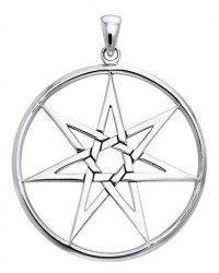 Elven 7 Pointed Star Large Pendant in Sterling Silver All Wicca Magickal Supplies Wiccan Supplies, Wicca Books, Pagan Jewelry, Altar Statues