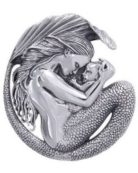Motherhood Mermaid Sterling Silver Pendant