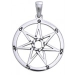 Heptogram Planetary Symbol Pendant in Sterling Silver
