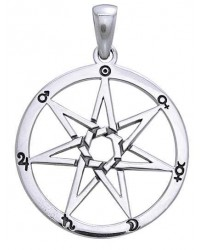 Heptogram Planetary Symbol Pendant in Sterling Silver All Wicca Magickal Supplies Wiccan Supplies, Wicca Books, Pagan Jewelry, Altar Statues