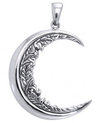Moon Vines Crescent Moon Pendant All Wicca Store Magickal Supplies Wiccan Supplies, Wicca Books, Pagan Jewelry, Altar Statues