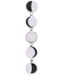 Moon Phase Inlaid Sterling Silver Pendant