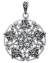 Intricate Knotwork Pentacle Pendant in Sterling Silver All Wicca Store Magickal Supplies Wiccan Supplies, Wicca Books, Pagan Jewelry, Altar Statues