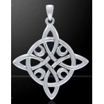 Quaternary Celtic Cross Silver Pendant