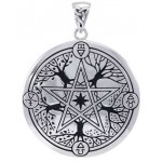 Elemental Seasons Witches Pentacle Pendant