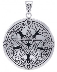 Elemental Seasons Witches Pentacle Pendant All Wicca Store Magickal Supplies Wiccan Supplies, Wicca Books, Pagan Jewelry, Altar Statues